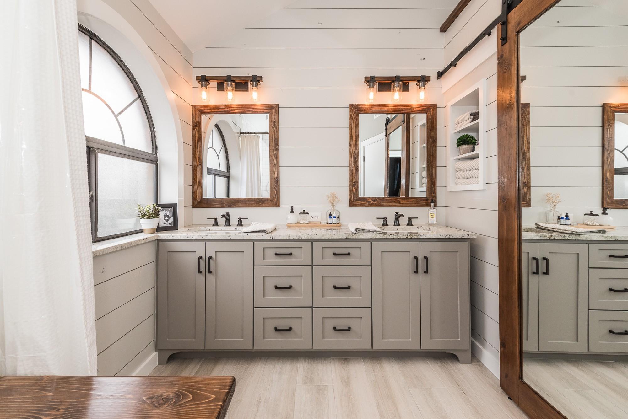 Modern Farmhouse Bathroom Before After Irwin Construction