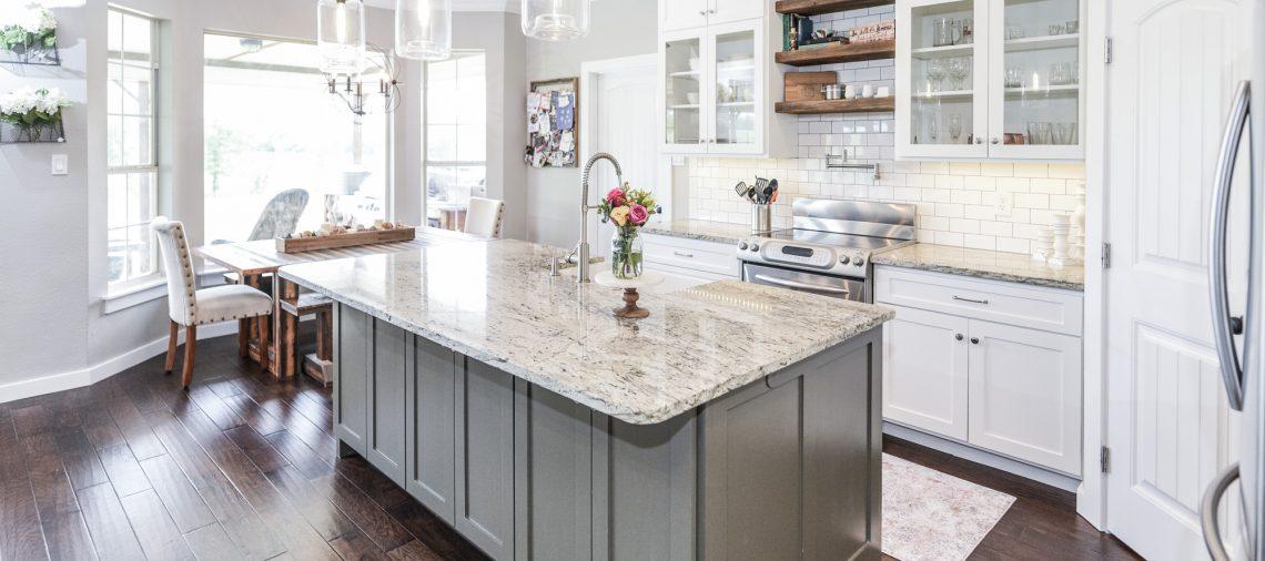 Denton Texas Contractor Renovation Custom Cabinets Kitchen